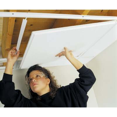 CeilingMax 8 Ft. x 1-1/2 In. White PVC Top Hanger