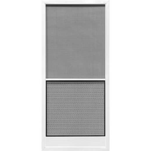 Precision Screen Capri 36 In. W x 80 In. H x 7/8 In. Thick White Steel Screen Door