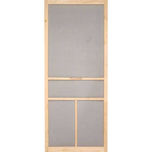Snavely Kimberly Bay 32 In. W x 80 In. H x 1 In. Thick Natural Fingerjoint Pine Wood T-Bar Screen Door