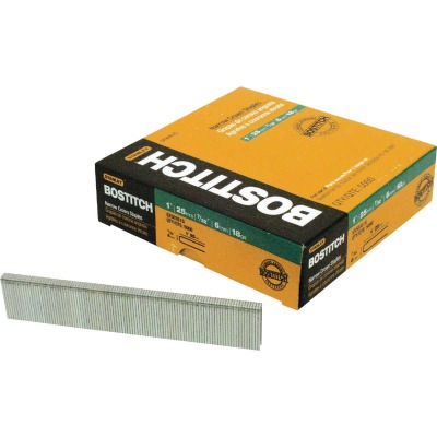 Bostitch 18-Gauge Galvanized Narrow Crown Finish Staple, 7/32 In. x 1-1/2 In. (3000 Ct.)