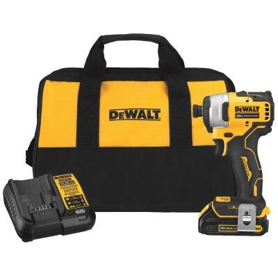 Dewalt Atomic 20 Volt MAX Lithium-Ion 1/4 In. Hex Brushless Cordless Impact Driver Kit