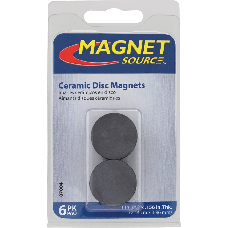 Master Magnetics Ceramic 1 in. Magnetic Discs (6-Pack) Image 2