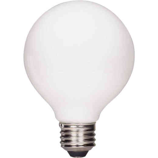 Satco Nuvo 40W Equivalent Warm White G25 Medium Frosted LED Decorative Light Bulb (2-Pack)