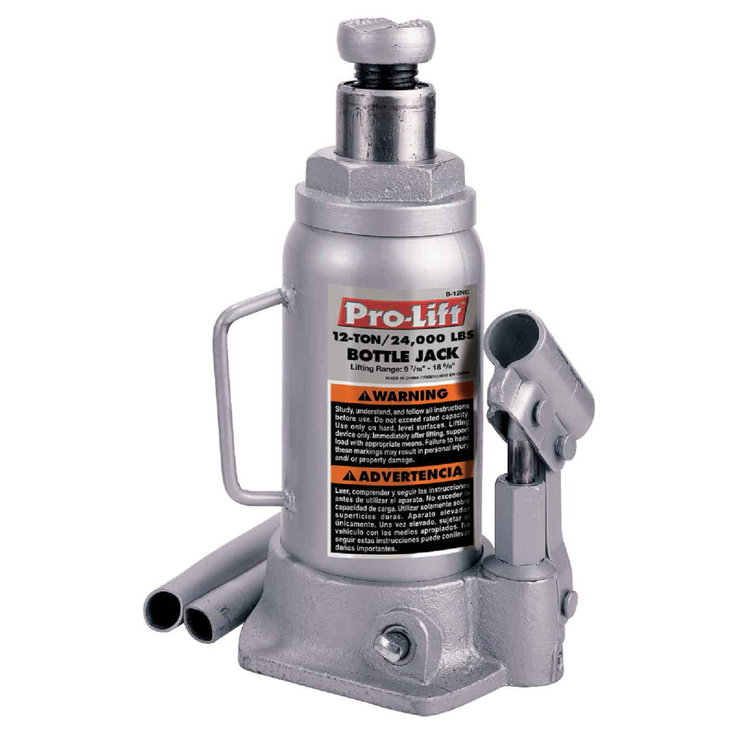 Pro-Lift 12-Ton Hydraulic Bottle Jack Image 1