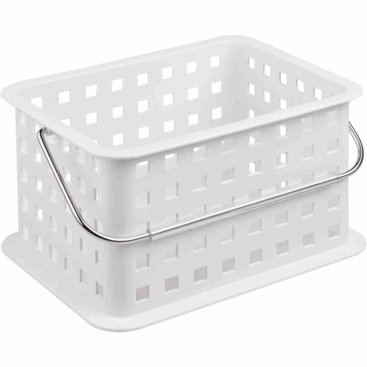 InterDesign Small White Plastic Basket Image 1
