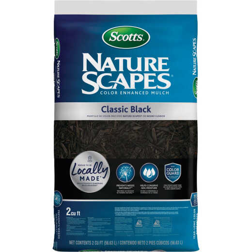 Scotts Nature Scapes 2 Cu. Ft. Classic Black Shredded Hardwood Mulch