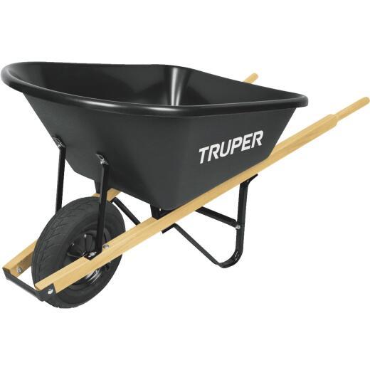 Truper 6 Cu. Ft. Poly Wheelbarrow