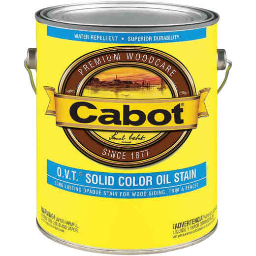Cabot O.V.T. VOC Compliant Solid Color Exterior Stain, White Base, 1 Gal.