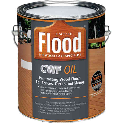 Flood CWF Alkyd/Oil Base Natural Wood Finish, Natural, 1 Gal.