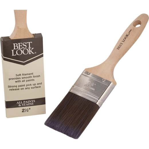 Best Look 2.5 In. Flat Polyester Paint Brush